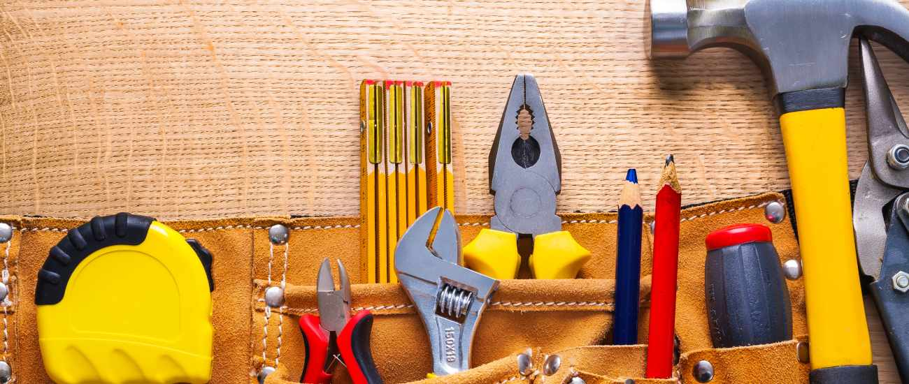 tools in toolbelt