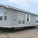 mobile home before deck installation